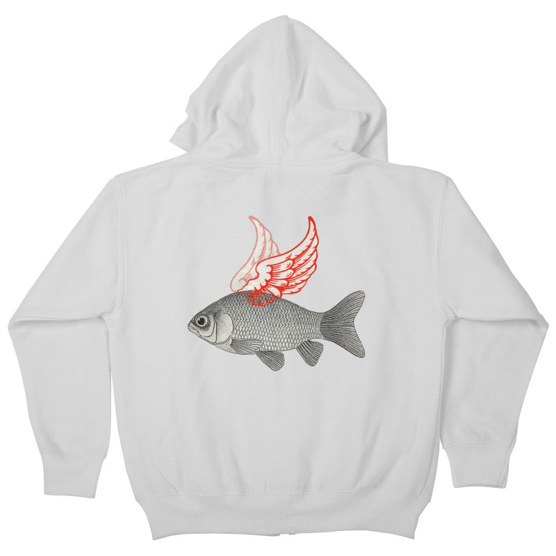 Flying Fish Kids Zip-Up Hoody by Vin Zzep's Artist Shop
