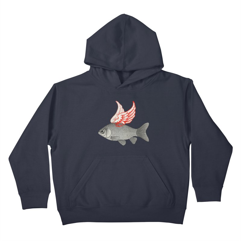 Flying Fish Kids Pullover Hoody by Vin Zzep's Artist Shop
