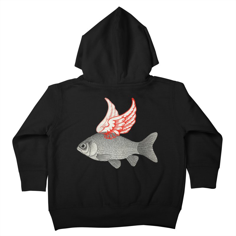 Flying Fish Kids Toddler Zip-Up Hoody by Vin Zzep's Artist Shop