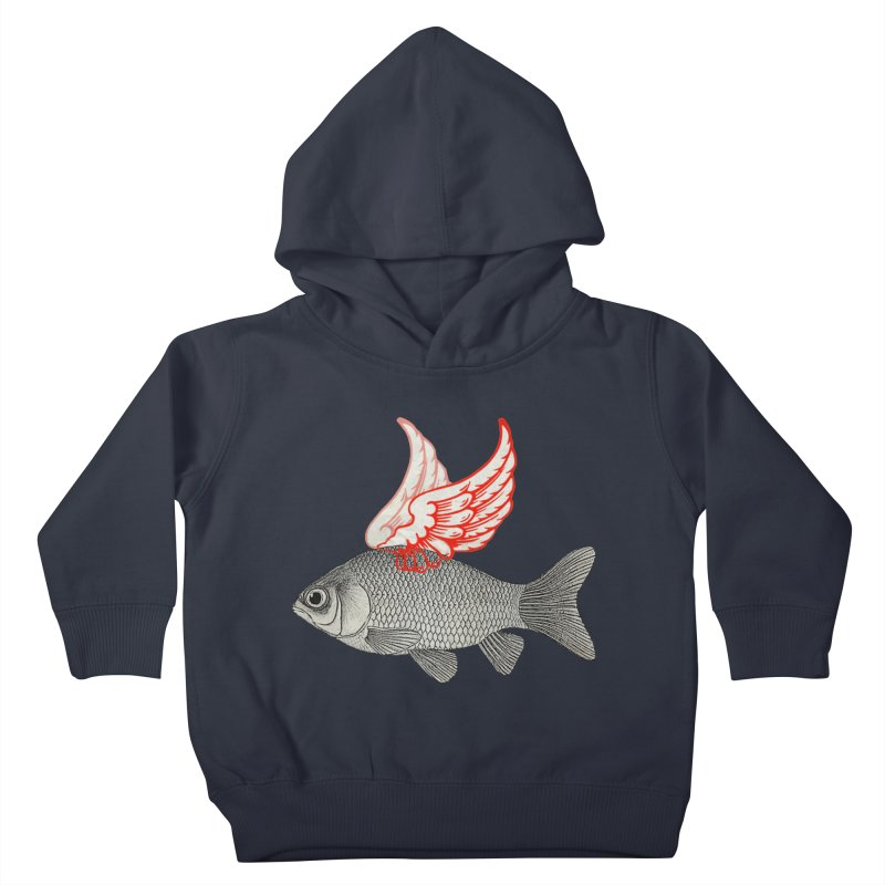 Flying Fish Kids Toddler Pullover Hoody by Vin Zzep's Artist Shop