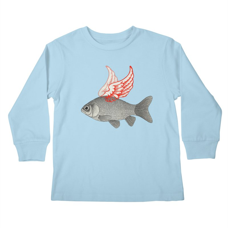 Flying Fish Kids Longsleeve T-Shirt by Vin Zzep's Artist Shop