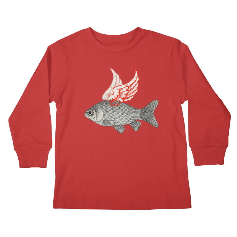 Flying Fish Kids Longsleeve T-Shirt by Vin Zzep's Artist Shop