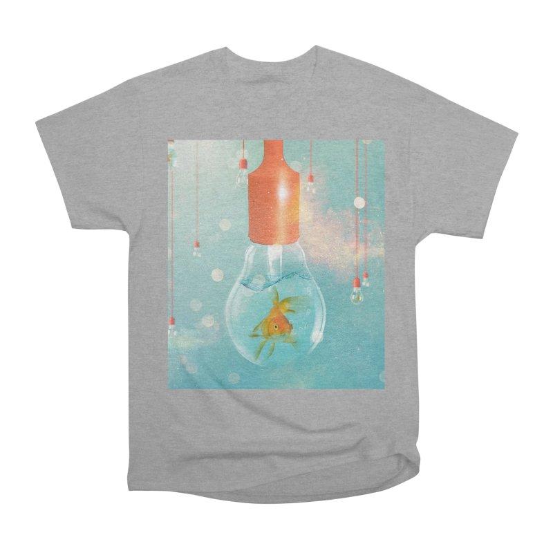 Goldfish Ideas Men's Heavyweight T-Shirt by Vin Zzep's Artist Shop