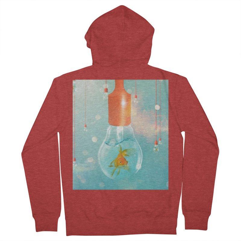 Goldfish Ideas Men's Zip-Up Hoody by Vin Zzep's Artist Shop