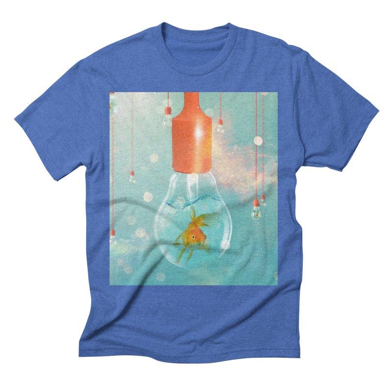 Goldfish Ideas Men's Triblend T-Shirt by Vin Zzep's Artist Shop