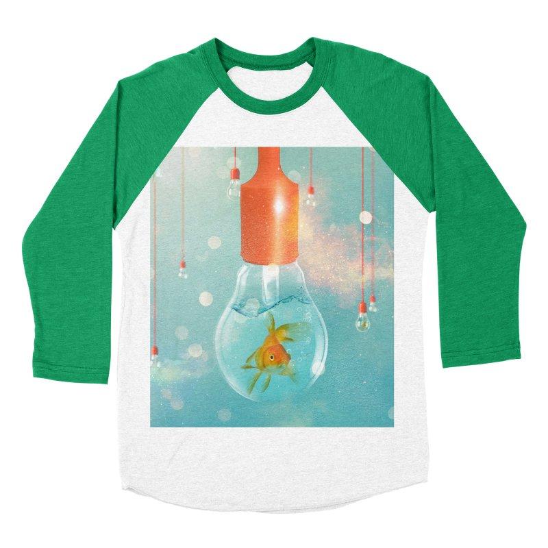Goldfish Ideas Men's Baseball Triblend T-Shirt by Vin Zzep's Artist Shop