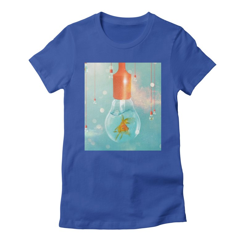Goldfish Ideas Women's Fitted T-Shirt by Vin Zzep's Artist Shop