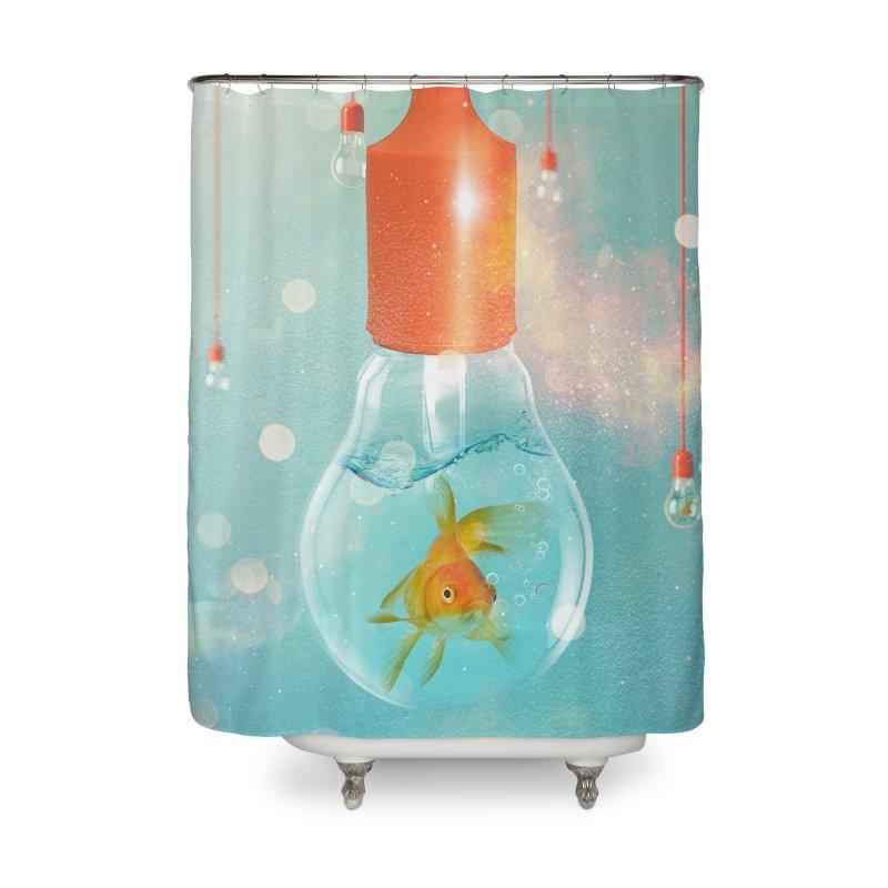 Goldfish Ideas Home Shower Curtain by Vin Zzep's Artist Shop