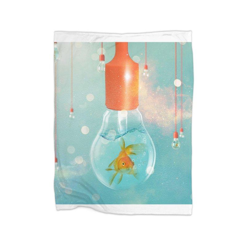 Goldfish Ideas Home Blanket by Vin Zzep's Artist Shop
