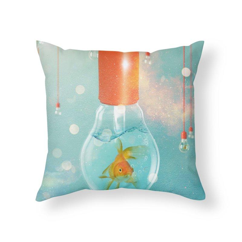 Goldfish Ideas Home Throw Pillow by Vin Zzep's Artist Shop