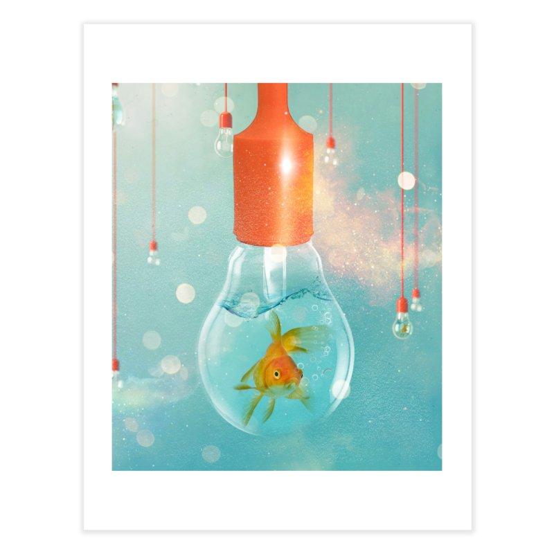 Goldfish Ideas Home Fine Art Print by Vin Zzep's Artist Shop