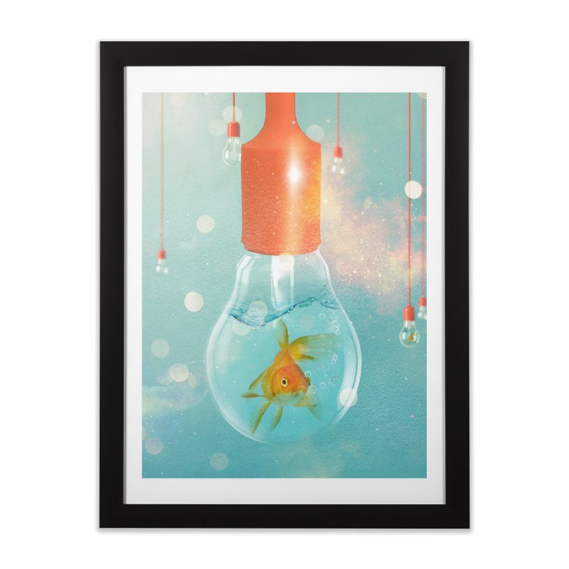 Goldfish Ideas Home Framed Fine Art Print by Vin Zzep's Artist Shop