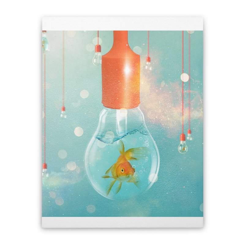 Goldfish Ideas Home Stretched Canvas by Vin Zzep's Artist Shop