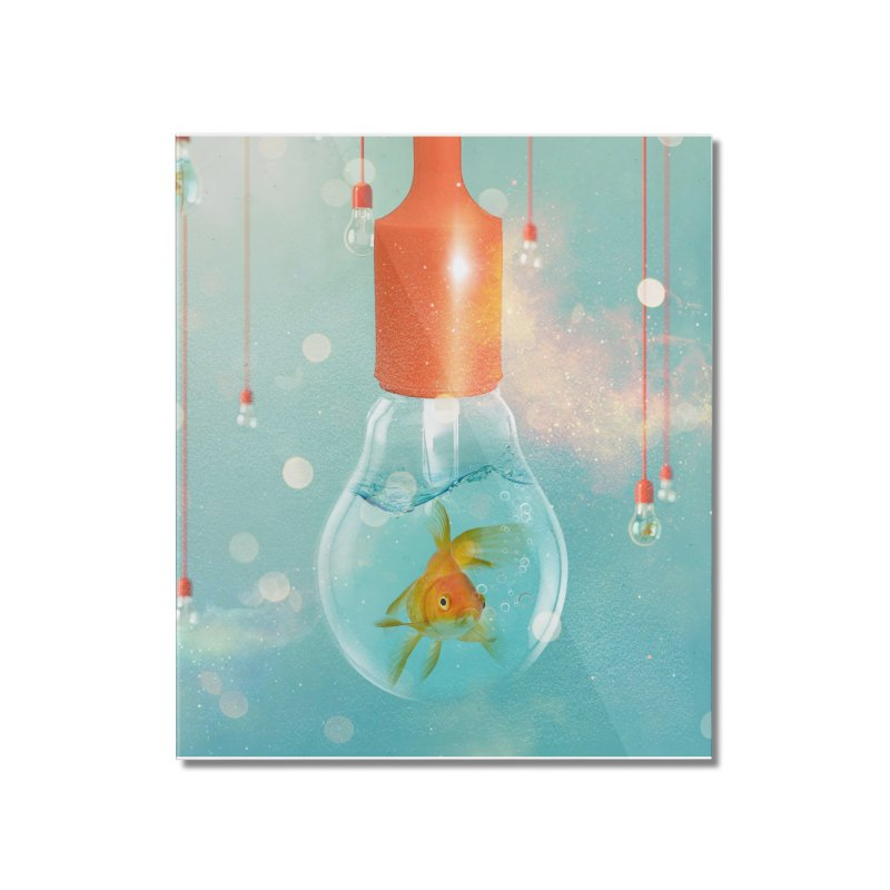 Goldfish Ideas Home Mounted Acrylic Print by Vin Zzep's Artist Shop