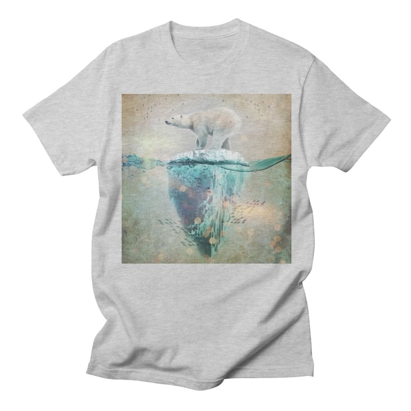 Polabear Adrift Men's Regular T-Shirt by Vin Zzep's Artist Shop