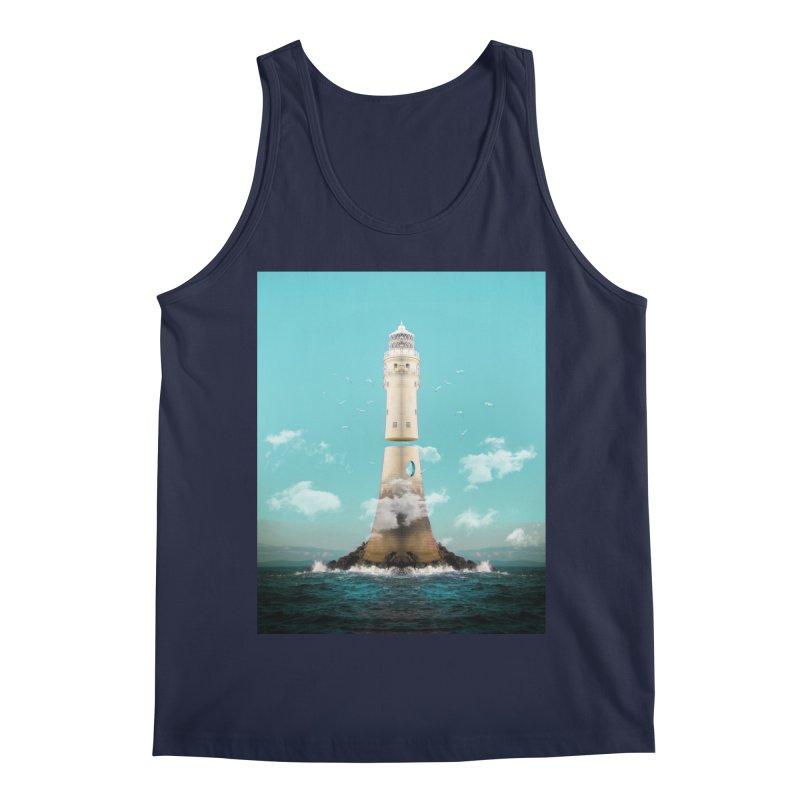 Lighthouse Sepirato 2 Men's Regular Tank by Vin Zzep's Artist Shop