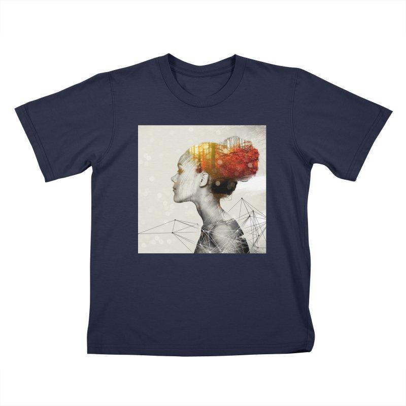 Geo red Head Kids Toddler T-Shirt by Vin Zzep's Artist Shop