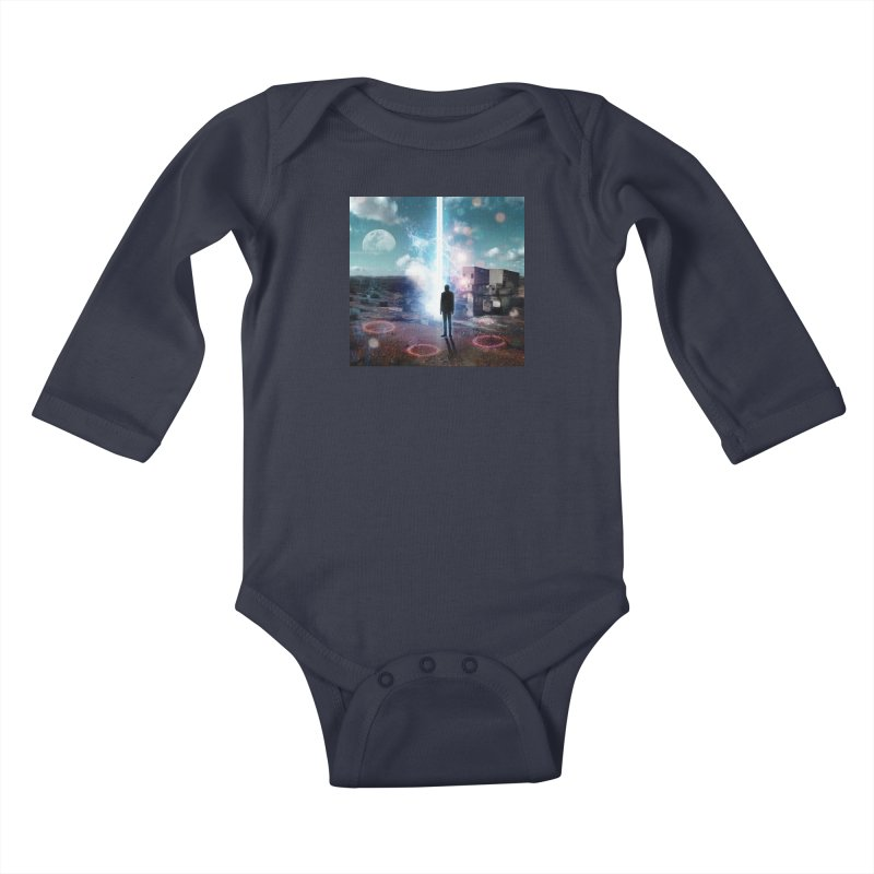 Data Mining Kids Baby Longsleeve Bodysuit by Vin Zzep's Artist Shop