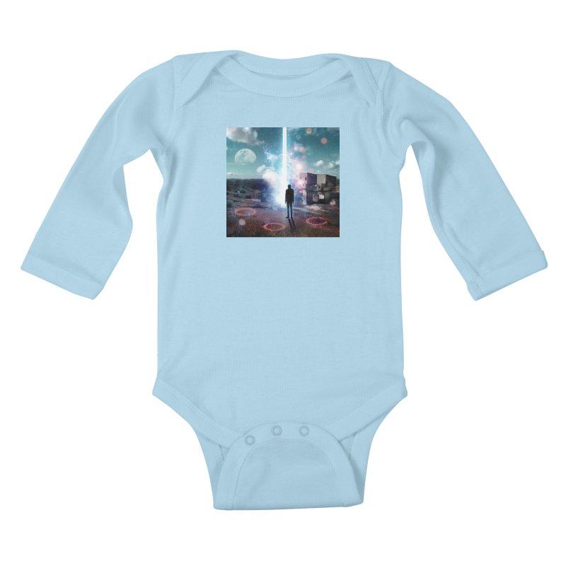Data Mining Kids Baby Longsleeve Bodysuit by Vin Zzep's Artist Shop