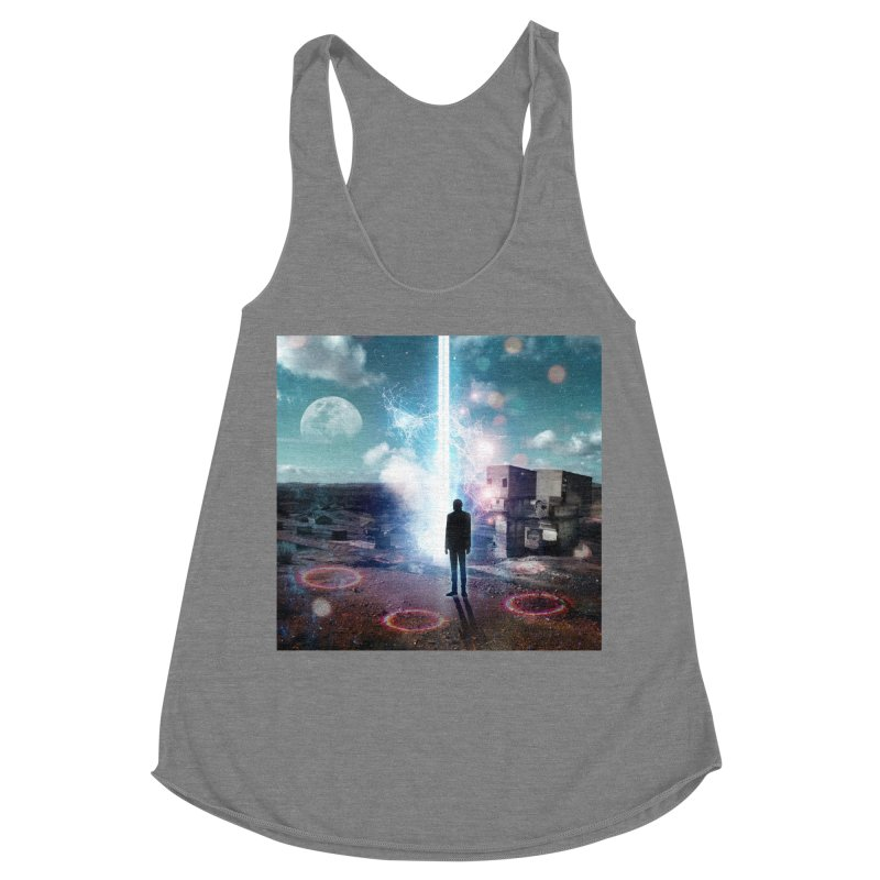 Data Mining Women's Racerback Triblend Tank by Vin Zzep's Artist Shop