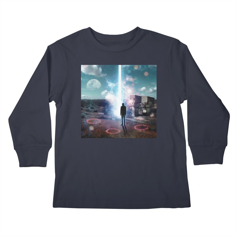 Data Mining Kids Longsleeve T-Shirt by Vin Zzep's Artist Shop