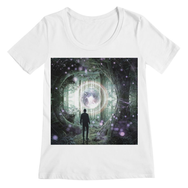 Forest Orb 2 Women's Regular Scoop Neck by Vin Zzep's Artist Shop