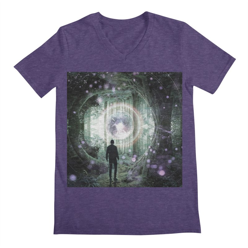 Forest Orb 2 Men's Regular V-Neck by Vin Zzep's Artist Shop