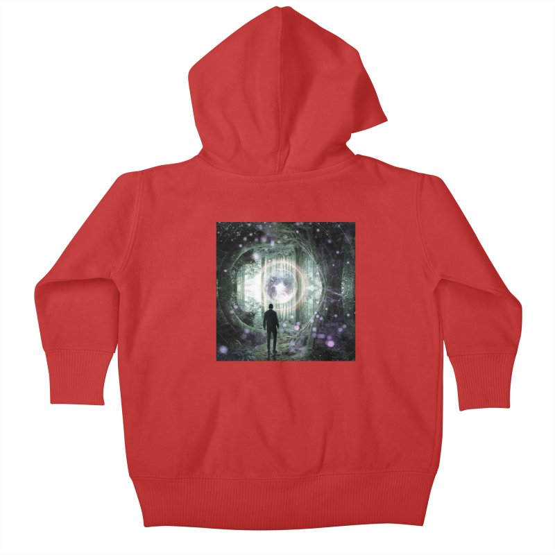 Forest Orb 2 Kids Baby Zip-Up Hoody by Vin Zzep's Artist Shop
