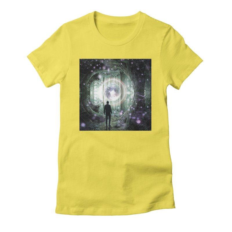 Forest Orb 2 Women's Fitted T-Shirt by Vin Zzep's Artist Shop
