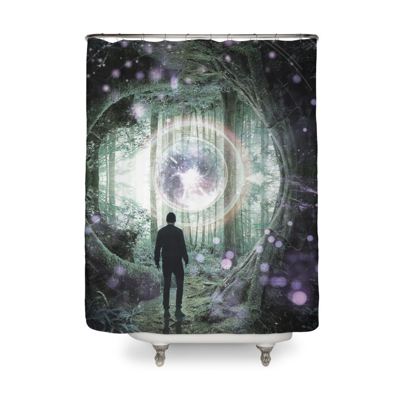 Forest Orb 2 Home Shower Curtain by Vin Zzep's Artist Shop