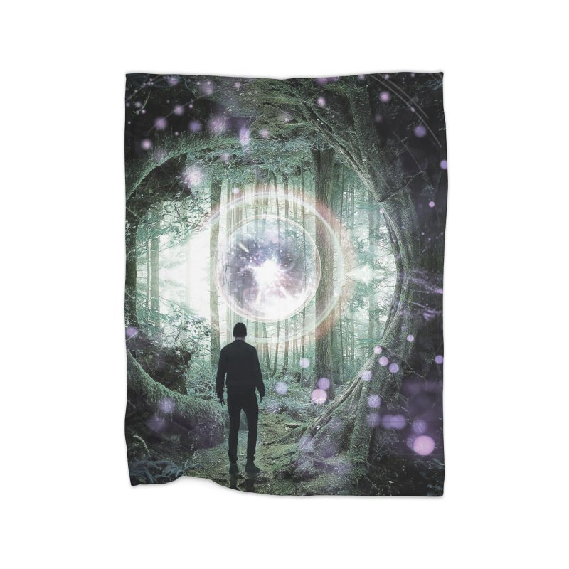 Forest Orb 2 Home Fleece Blanket Blanket by Vin Zzep's Artist Shop