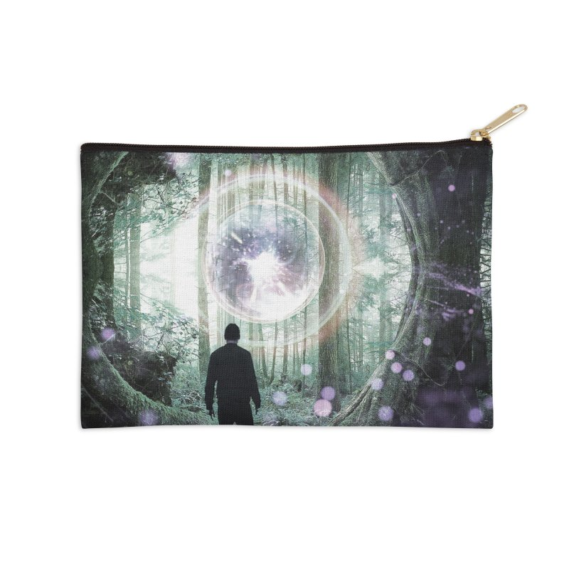 Forest Orb 2 Accessories Zip Pouch by Vin Zzep's Artist Shop