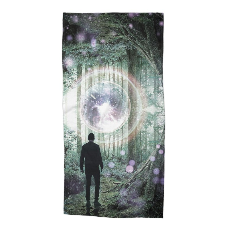 Forest Orb 2 Accessories Beach Towel by Vin Zzep's Artist Shop