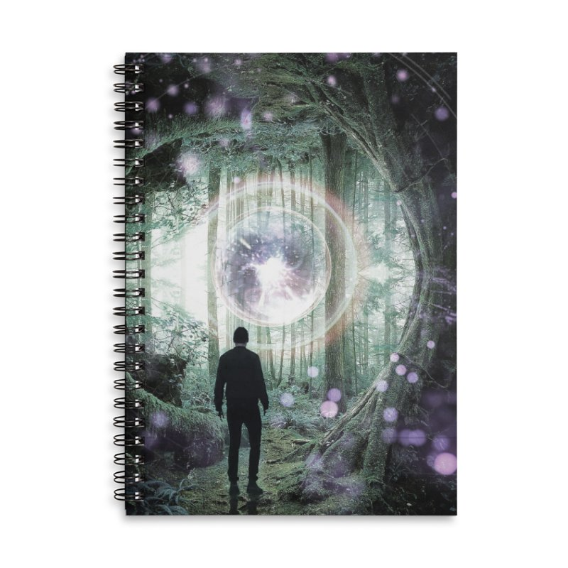 Forest Orb 2 Accessories Lined Spiral Notebook by Vin Zzep's Artist Shop