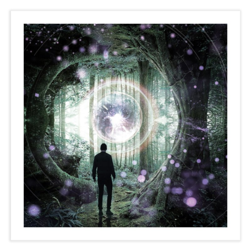 Forest Orb 2 Home Fine Art Print by Vin Zzep's Artist Shop