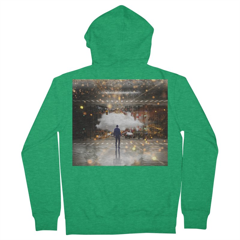 Raining on the Streets Men's Zip-Up Hoody by Vin Zzep's Artist Shop
