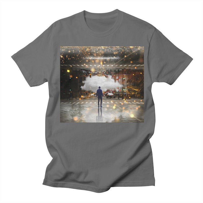 Raining on the Streets Men's T-Shirt by Vin Zzep's Artist Shop