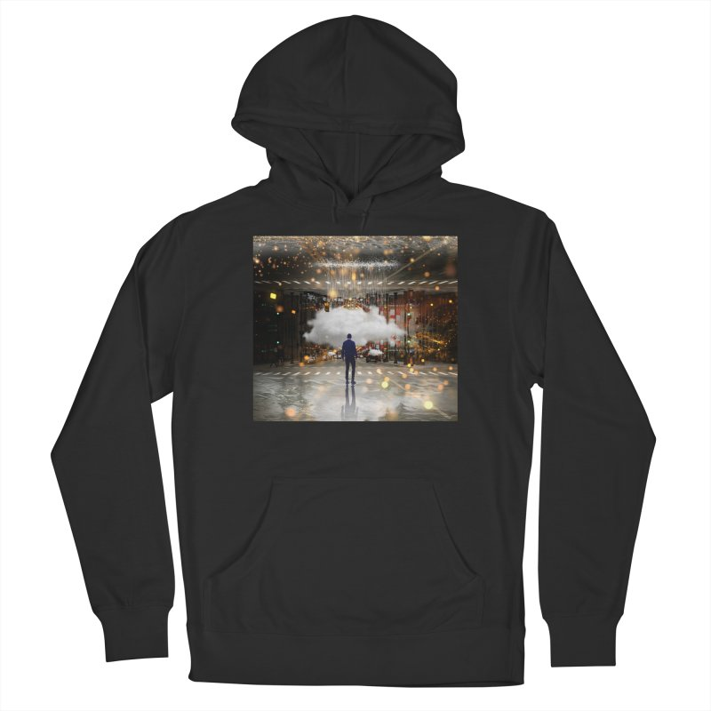 Raining on the Streets Men's French Terry Pullover Hoody by Vin Zzep's Artist Shop