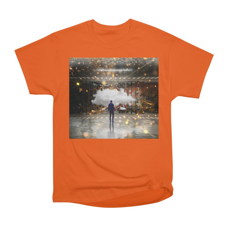 Raining on the Streets Men's Heavyweight T-Shirt by Vin Zzep's Artist Shop
