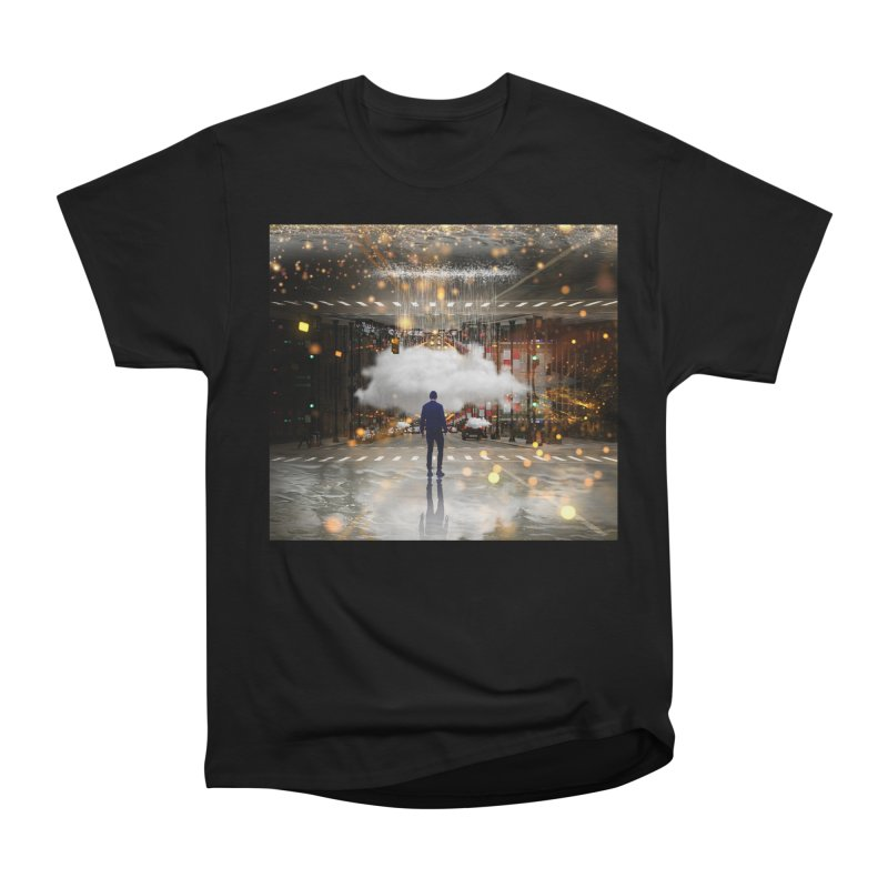 Raining on the Streets Women's Heavyweight Unisex T-Shirt by Vin Zzep's Artist Shop