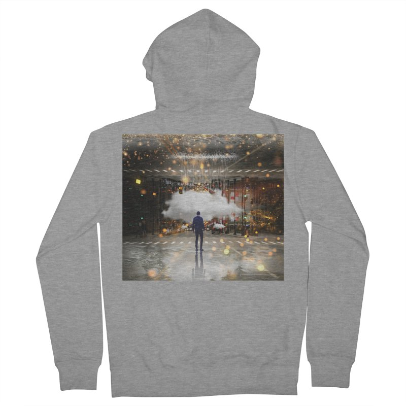 Raining on the Streets Women's French Terry Zip-Up Hoody by Vin Zzep's Artist Shop