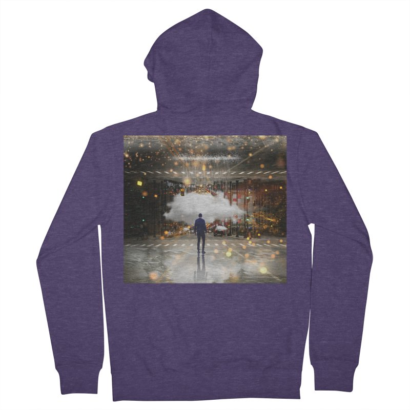 Raining on the Streets Men's French Terry Zip-Up Hoody by Vin Zzep's Artist Shop