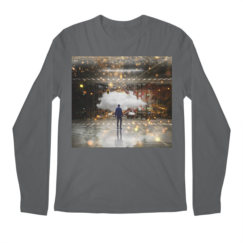 Raining on the Streets Men's Longsleeve T-Shirt by Vin Zzep's Artist Shop