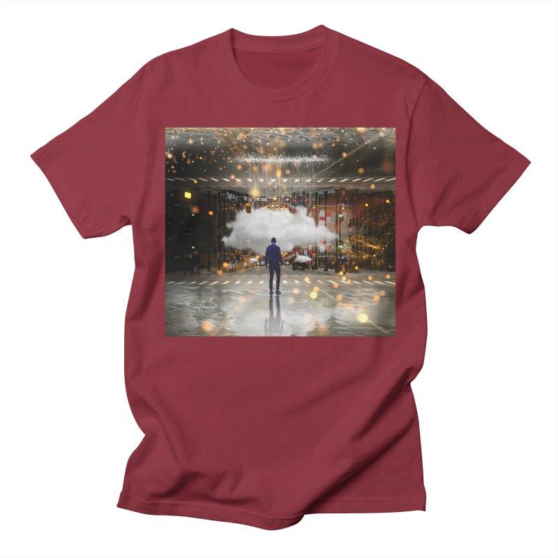 Raining on the Streets Men's Regular T-Shirt by Vin Zzep's Artist Shop