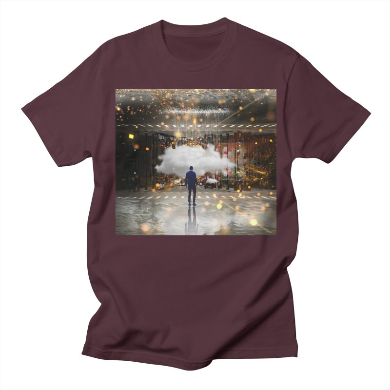 Raining on the Streets Men's Regular T-Shirt by Vin Zzep's Artist Shop