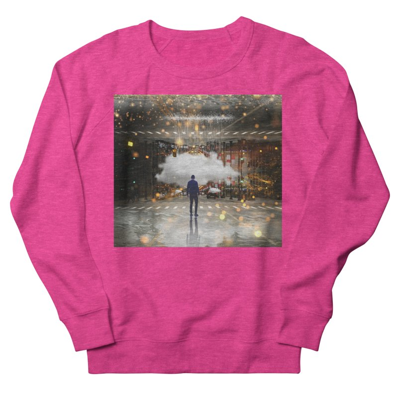 Raining on the Streets Men's French Terry Sweatshirt by Vin Zzep's Artist Shop