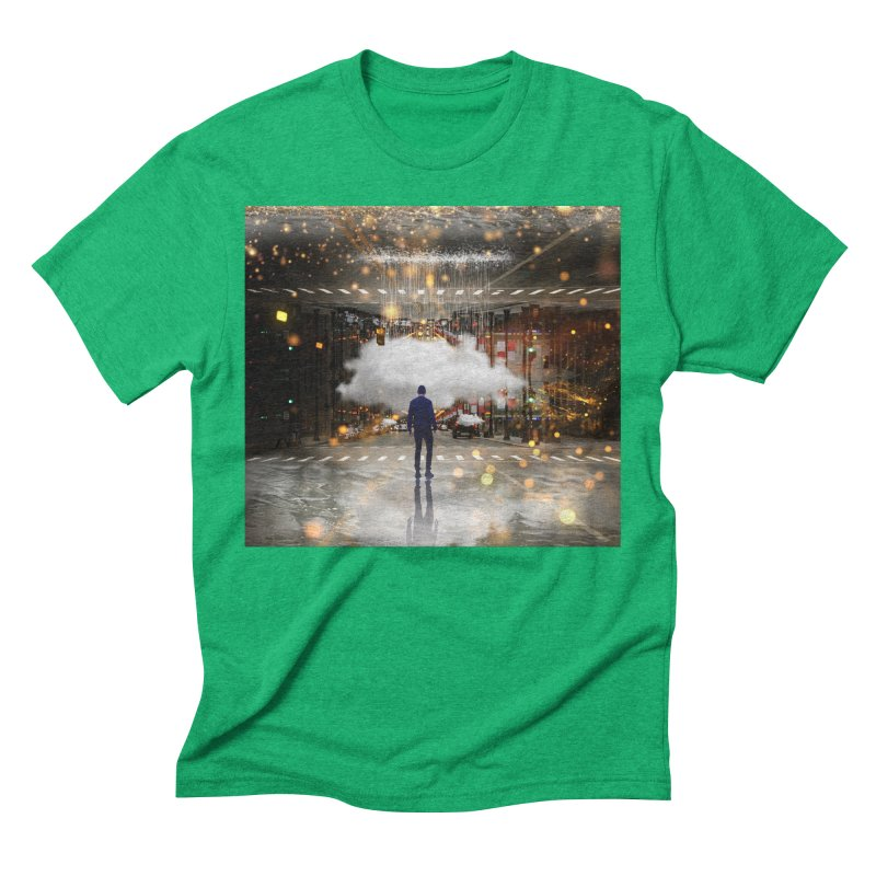 Raining on the Streets Men's Triblend T-Shirt by Vin Zzep's Artist Shop