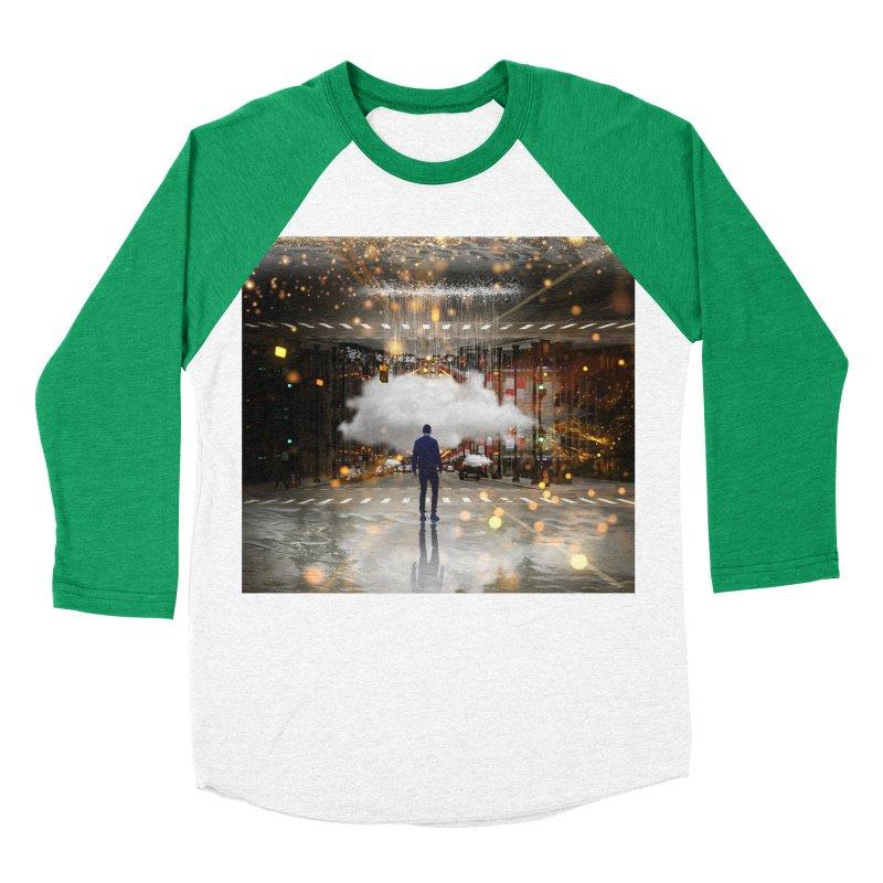 Raining on the Streets Men's Baseball Triblend Longsleeve T-Shirt by Vin Zzep's Artist Shop