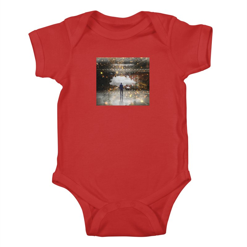 Raining on the Streets Kids Baby Bodysuit by Vin Zzep's Artist Shop