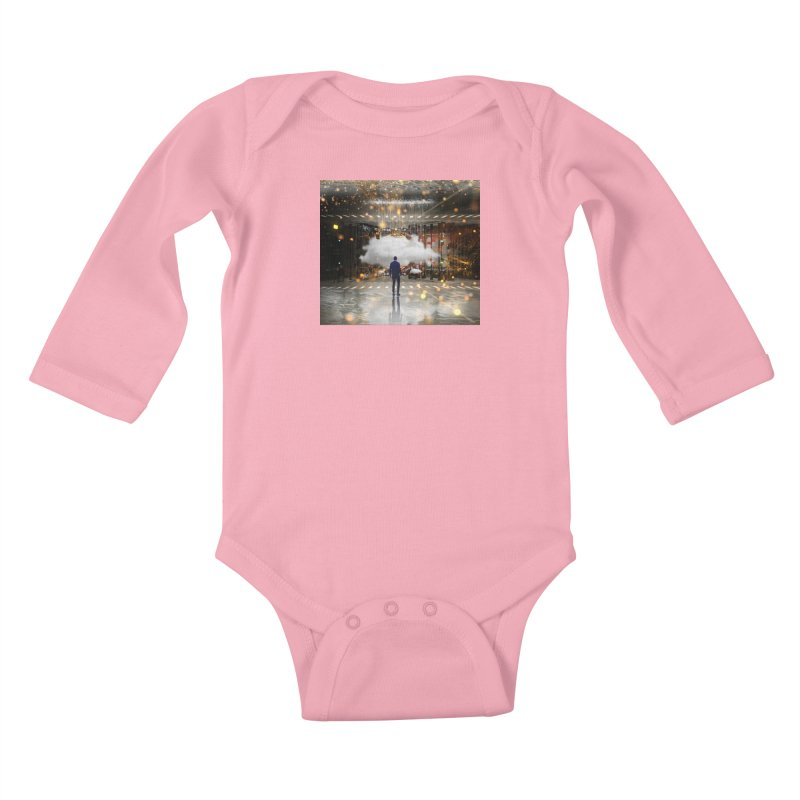 Raining on the Streets Kids Baby Longsleeve Bodysuit by Vin Zzep's Artist Shop